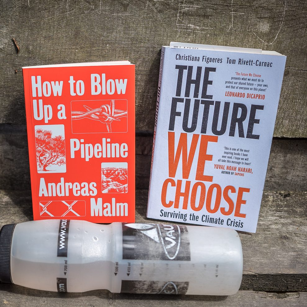 Bücher: How to Blow Up a Pipeline und The Future We Choose